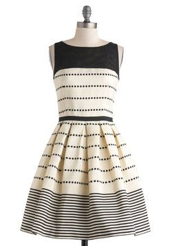 lovely a-line dress with pretty stripes