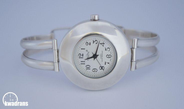 Silver Wristwatch for women, 925 sterling silver #silver #watch Zegarek srebrny na rękę - damski, marki Osin