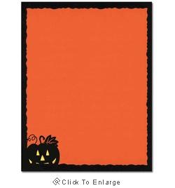 Pumpkin Face Halloween Laser & Inkjet Printer Paper