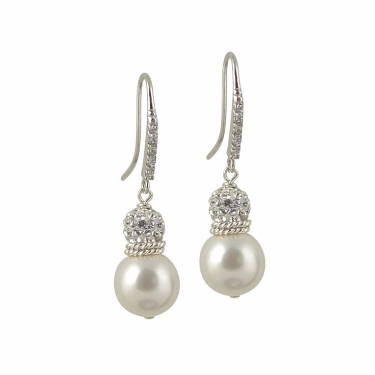The perfect amount of sparkle! See more here: http://petitemargaux.com/shop/earrings/mia-pearl-crystal-earrings