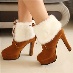Popular Plush Martin Ankle Boots