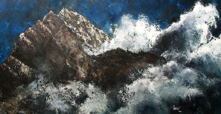 Everest Oil on Canvas 100x50 cm