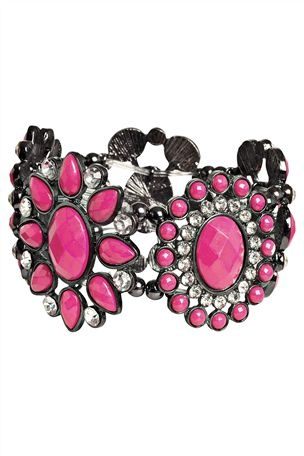 Pink Flower Expander Bracelet