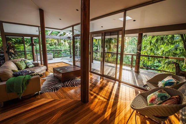 The GlassHouse Rainforest Retreat. | Woolgoolga, NSW | Accommodation. From $200 per night. Sleeps 2. #rainforest