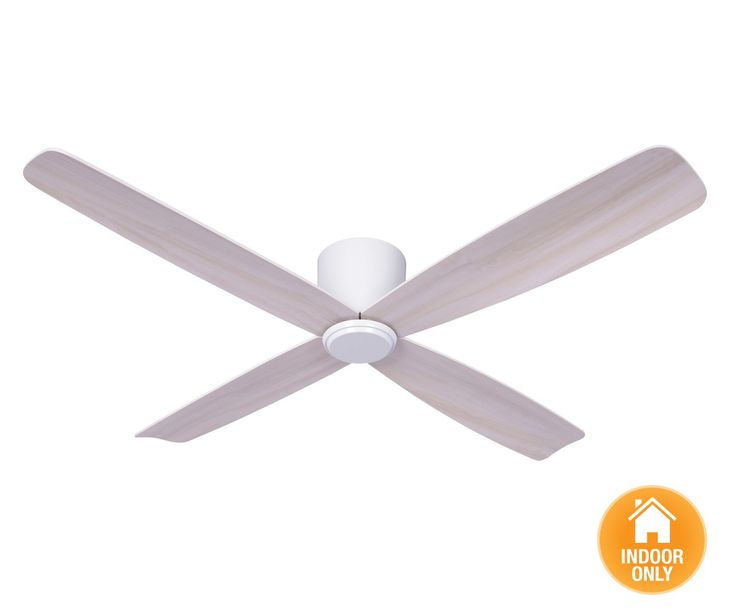 Low Profile White Ceiling Fan Beacon lighting - airfusion radar 132cm ...