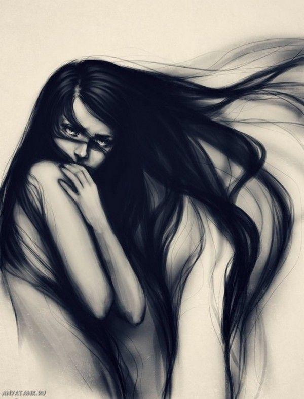 Фото девочек с длинными тёмными волосами