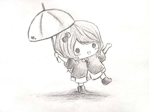 Best 25 cute girl drawing ideas on pinterest for How to draw a cute girl easy