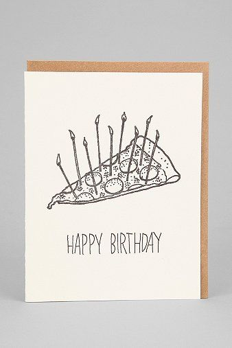 Pizza Cake Birthday Card