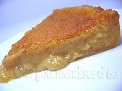 T'sais, la tarte au sucre pas de croûte qui prend 4 ingrédients pis 5 minutes à préparer?.. ben c'est ça.