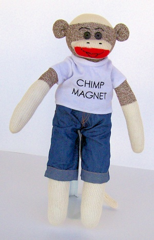 Nicky the Chimp Magnet
