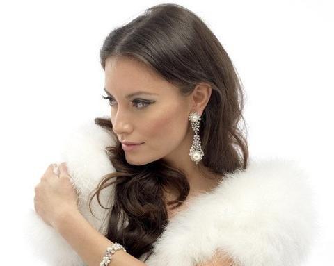 Wedding Earrings - Statement Drop Ivory Pearl & Crystal Earrings, Harriet