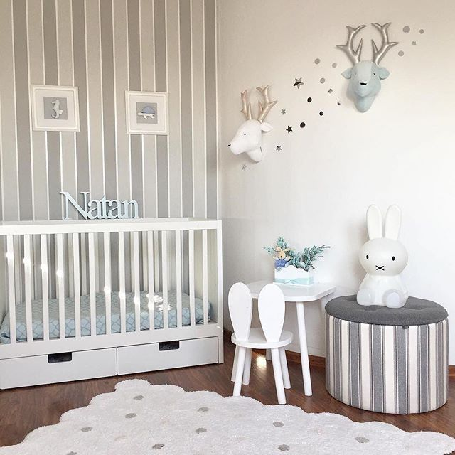A beautiful classic nursery by @emiliazwiewka styled with our machine washable Biscuit rug! ✨✨ #lorenacanalsrugs