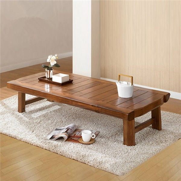 Asian Furniture Japanese Style Floor Low Foldable Table 130 60cm