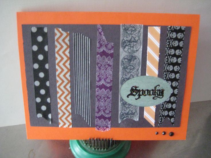 CAS Stampin Up and other washi tapes