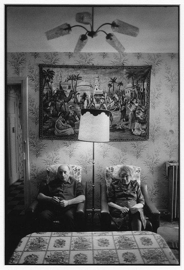 M. et Mme Boulogne, locataires des Gratte-ciel depuis 1936 © Marc Riboud – 1984