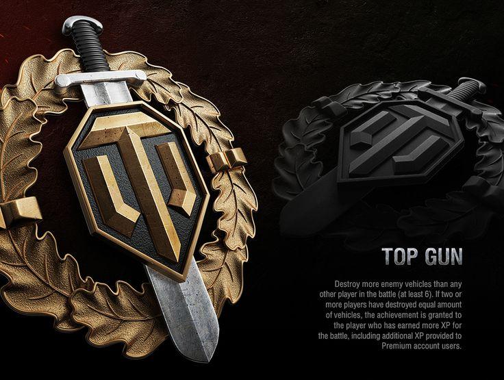 Achievements World of Tanks on Behance