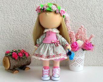 Jenna Doll-Handmade Doll-Fabric Doll-Rag by NICEDOLLSANDRABBITS