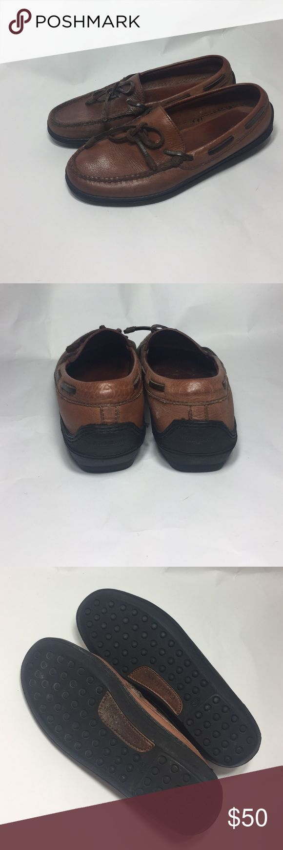 Cole Haan Country Driver Shoe NEW SZ 8.5 brown New Driving shoes. Vintage Cole Haan Country Loafer. Size 8.5 Medium. Brown. Leather. Tie detail on front. Rubber outer soles. No signs of wear besides discoloration of right shoe. I believe it can be corrected. See photos. Selling shoe as is. Cole Haan Shoes Flats & Loafers