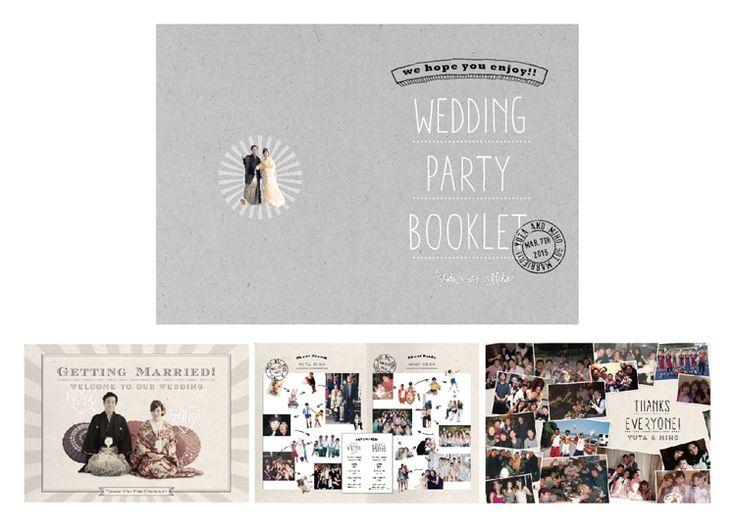 結婚式ペーパーアイテム -プロフィールブック- wedding paper item -profile book-