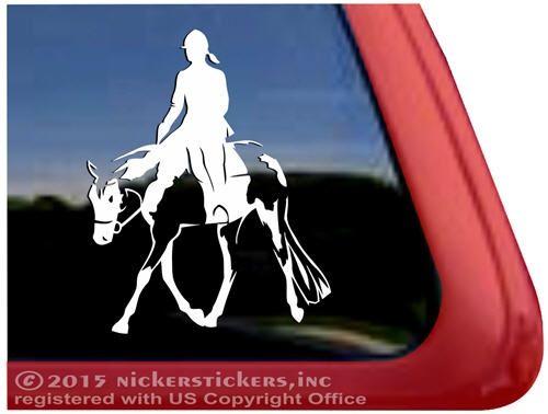 Custom American Paint Hunter Under Saddle Horse Trailer Car Truck RV Window Decal Sticker