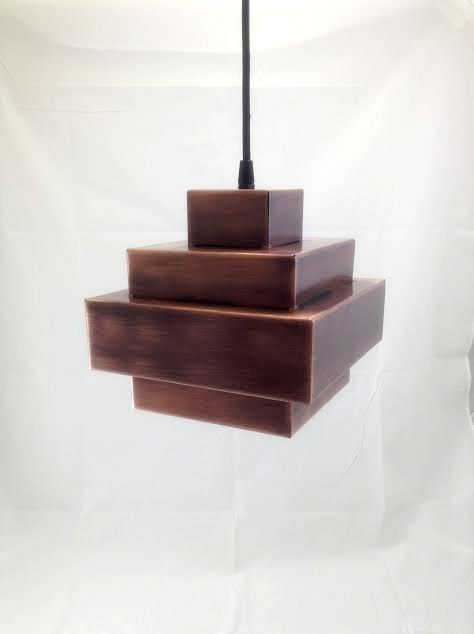 NOVA CUBE Pendant lamp light in industrial restoration style black antique copper egst