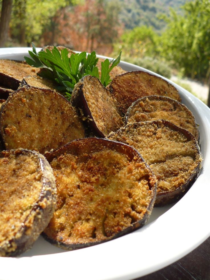 Eggplant lovers enjoy this vegetable as a side to any dish. Baked, rather than fried, the eggplant absorbs less oil and seems a bit more meaty as a result. We freeze these crusty rounds to use as the foundation of a couple of main dishes — at least we freeze what does not get gobbled […]