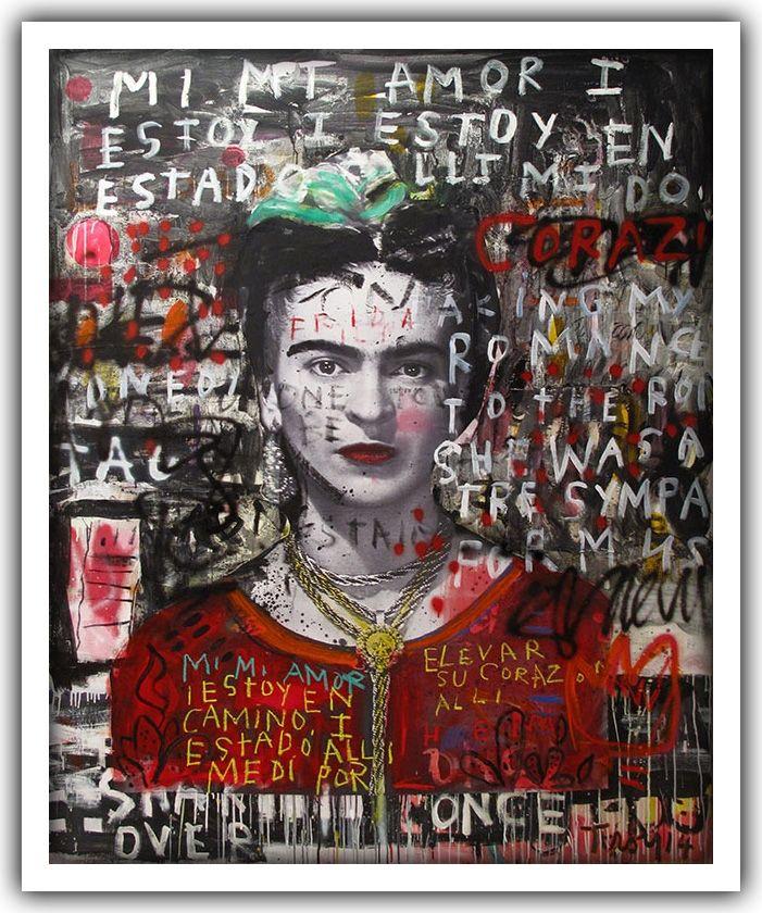 Troy Henriksen - Frida Mi Amor - Acrylique et mixte sur toile - 210 x 170 cm…