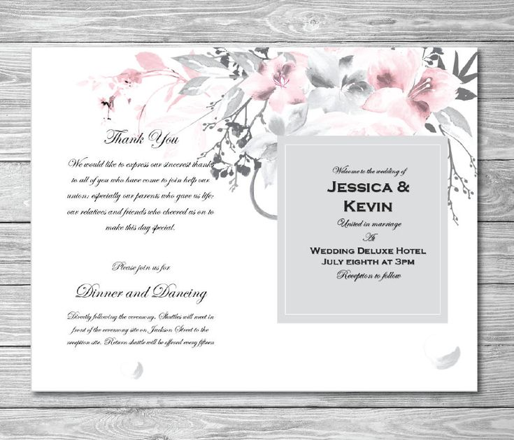 The 25+ best Wedding program template word ideas on Pinterest - how to make invitations on word