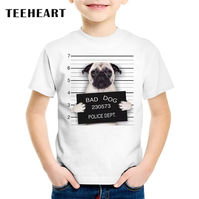 Check lastest price 18M-10T Summer Bad Pug Print T-Shirt for Children 2017 Kid Apparel Baby  t shirt Boys Girls Top Tees Outwear just only $11.99 with free shipping worldwide  #boysclothing Plese click on picture to see our special price for you