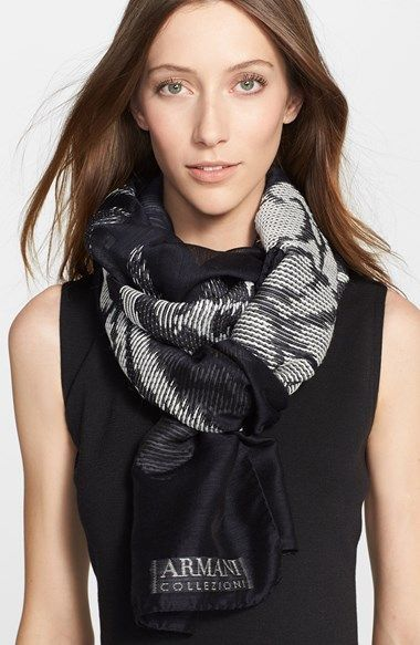Armani Collezioni Rose Fil Coupe Scarf available at #Nordstrom