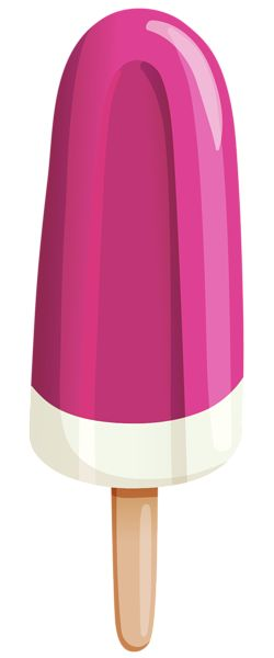 Pink Ice Cream Stick PNG Clipart