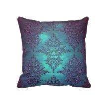 Purple and teal pillows fancy pillows fancy throw pillows master bedroom pinterest teal Master bedroom throw pillows