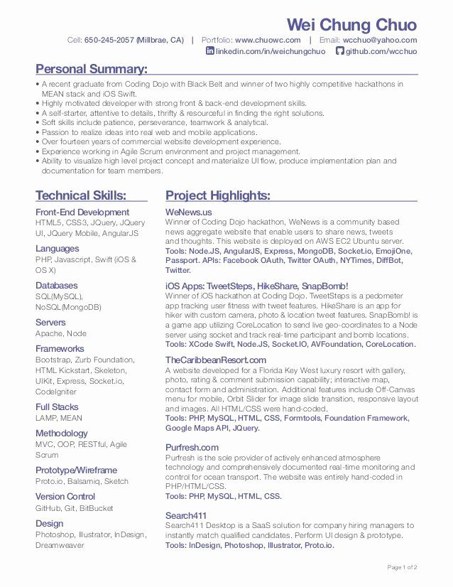 Entry Level Front End Developer Resume Fresh Pin By Bretagne Mac Giolla Eoin On Resumes For Artist In 2020 Resume Template Web Design Jobs Job Resume Samples