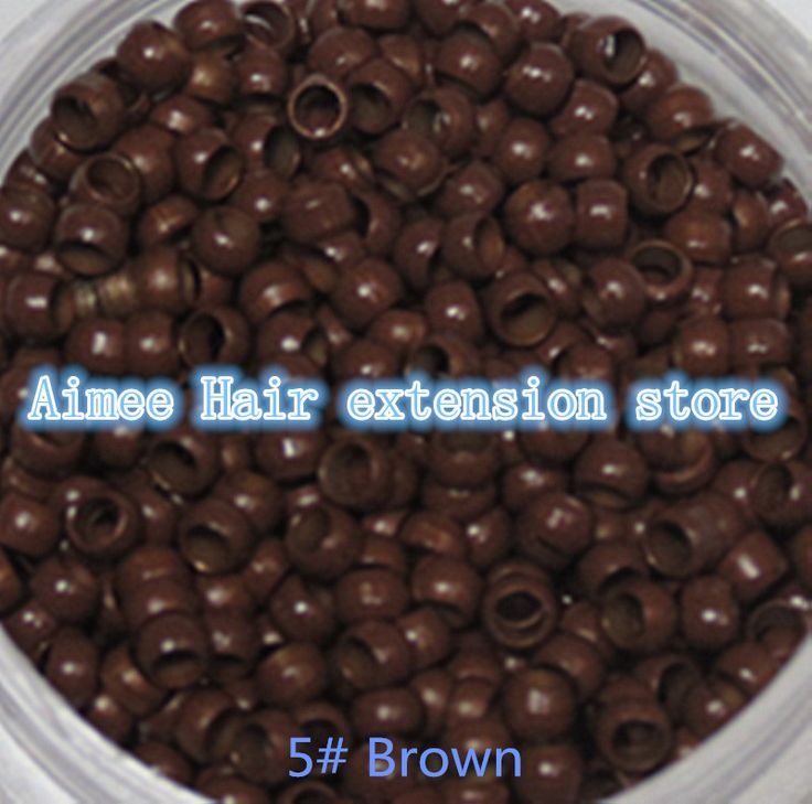 Free shipping1 bottle/1000pcs Brown 2.5mm Micro NANO Rings/Links/Beads For Nano Hair Extensions tool kit 7 Colors Optional