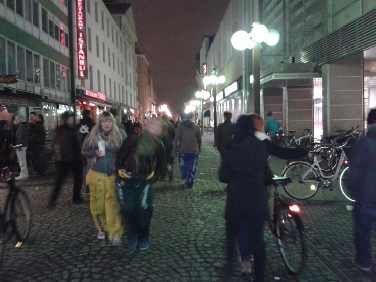 Walpurgis Night celebration in central Oulu.