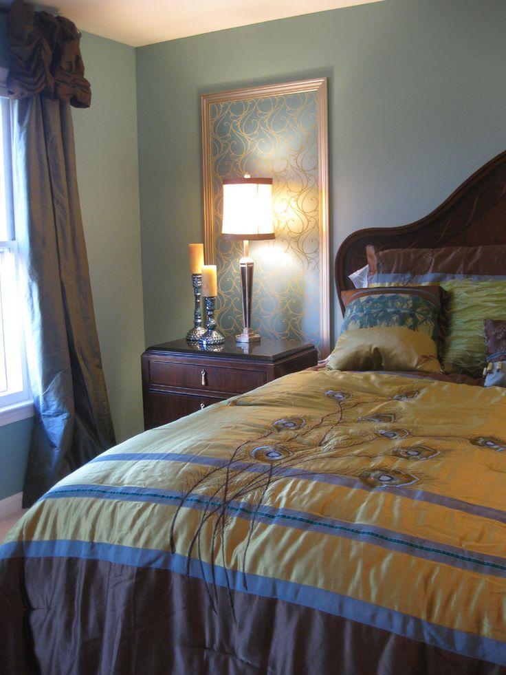 Embellish: Peacock Bedroom --my bedspread