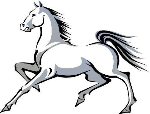 2014 Año chino del caballo - blanco, imagen vectorial.