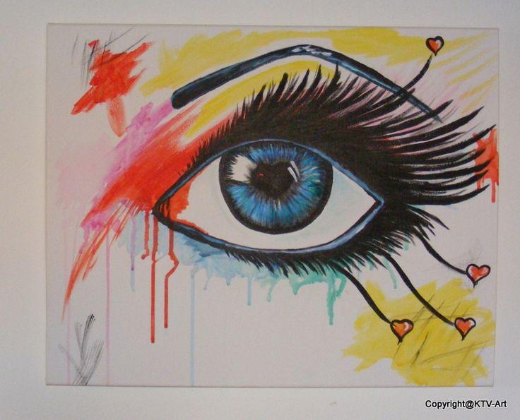 """ got my I on you"" Acryl op canvas 40 x 50"
