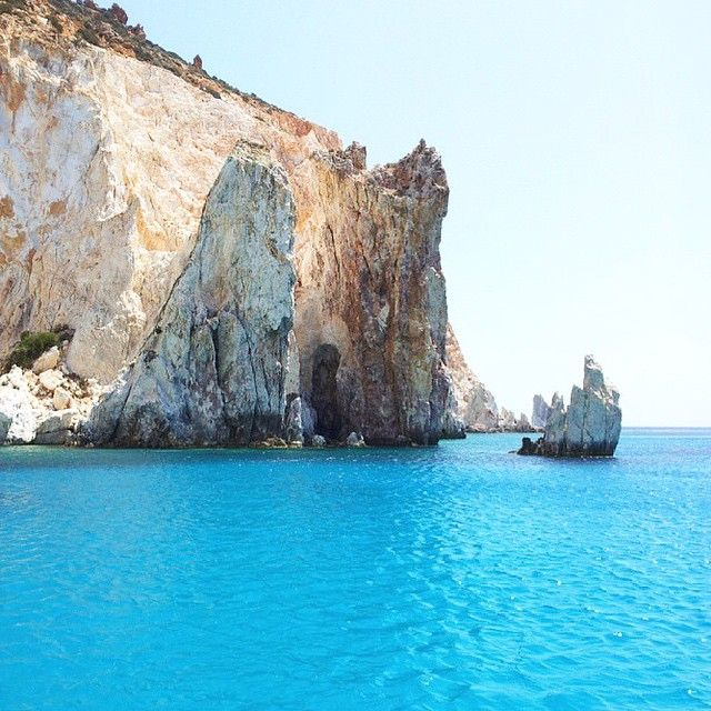 The wonderful hidden island of the Cyclades , polyaigos island (Πολύαιγος) . Some people call it ... The diamond of the Aegean Sea ... And waiting for you to explore it