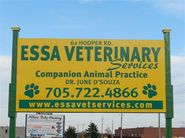Essa Veterinary Services - Outside Sign