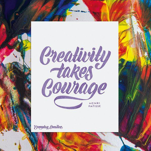 """""""Creativity takes Courage"""" – Henri Matisse #everydaycreative #aureliemaron"""