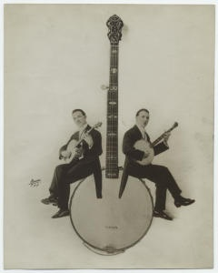 [Banjo players.] Apeda Studio (New York, N.Y.) -- Photographer. NYPL, Mid-Manhattan Picture Collection.