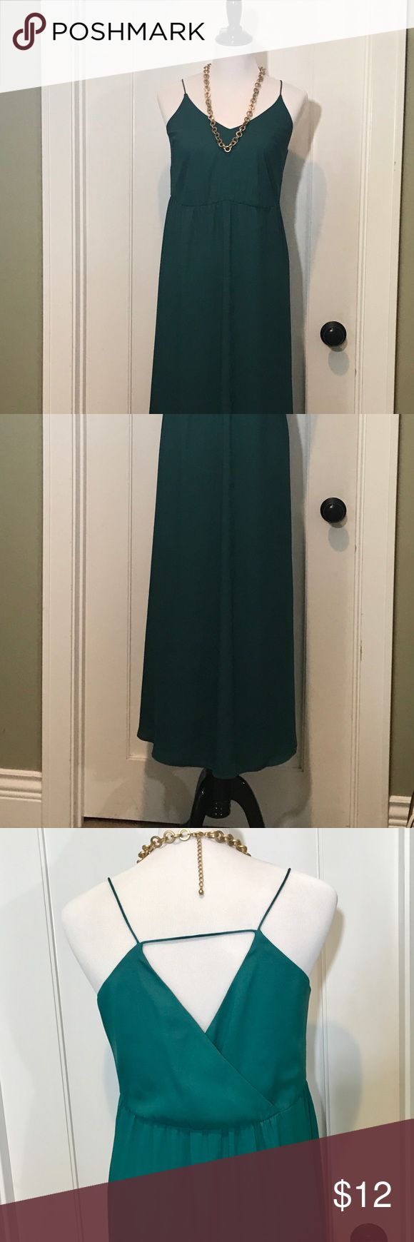Pretty teal blue green maxi dress Anne Taylor loft maxi dress anne taylor loft Dresses Maxi