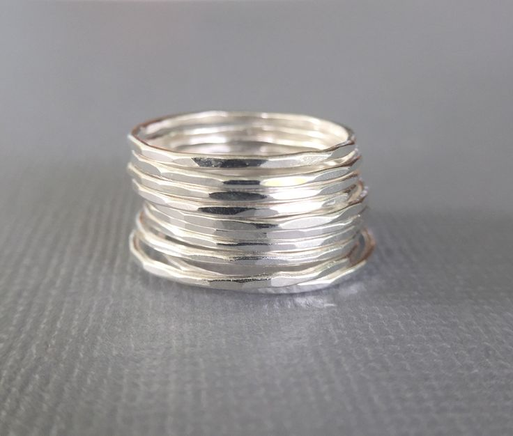 A personal favorite from my Etsy shop https://www.etsy.com/listing/592982426/stacking-rings-set-silver-stacking-rings