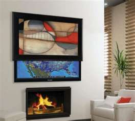 Unique Hide Your Tv with Art