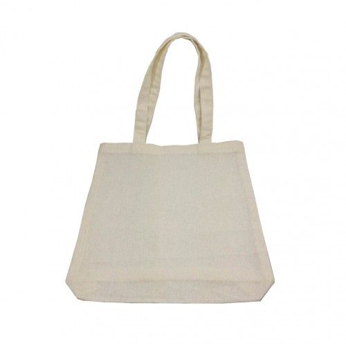 100% COTTON SHOPPING BAG WITH SHOULDER HANDLES