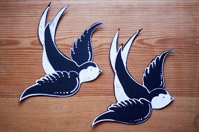 Pikczer For Ticzer carton birds - kartonowe ptaki - jaskółki- swallows