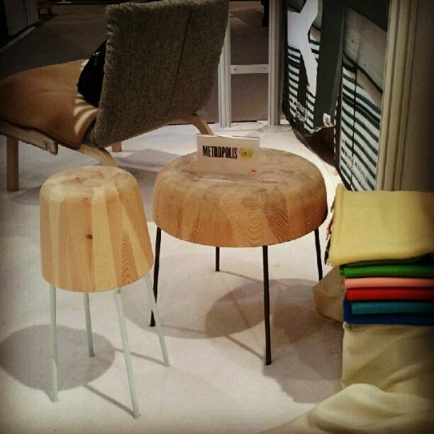 #metropolislikes Awkward tables by Froystad+Klock @insidenorway at #icff #designweeknyc by Metropolis_Mag, via Flickr