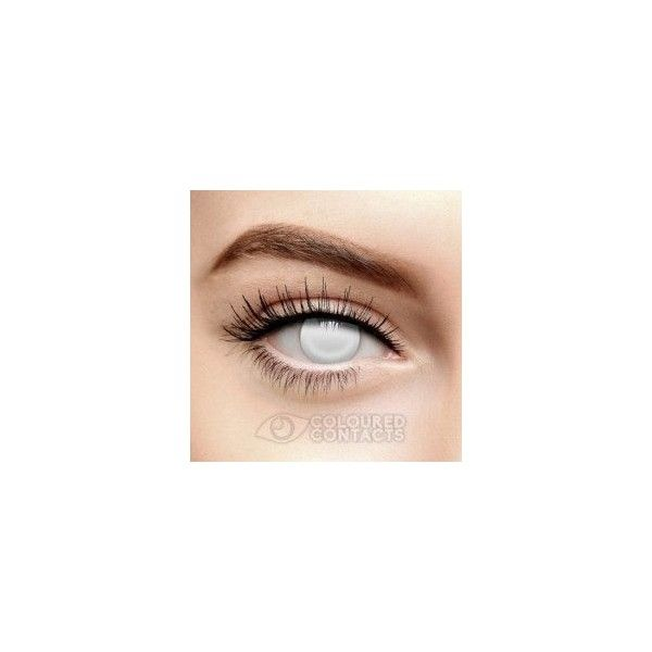 Zombie Eyes Contact Lenses, Zombie Halloween Colored Contacts US -... ❤ liked on Polyvore featuring contacts