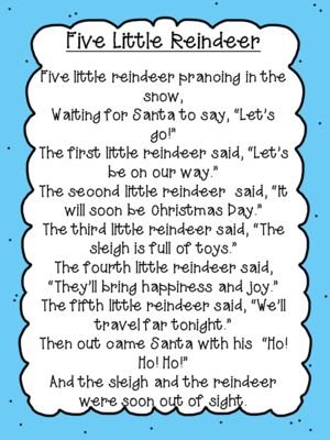 Five Little Reindeer Poem Freebie  from Fun in ECSE on TeachersNotebook.com (5 pages)